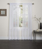Lisa Sheer Voile Window Curtain Panel - White