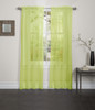 Lisa Sheer Voile Window Curtain Panel - Lime