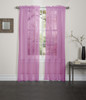Lisa Sheer Voile Window Curtain Panel - Hot Pink
