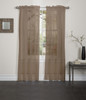 Lisa Sheer Voile Window Curtain Panel - Chocolate