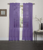 Lisa Sheer Voile Window Curtain Panel - Purple