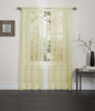 Lisa Sheer Voile Window Curtain Panel - Yellow