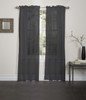 Lisa Sheer Voile Window Curtain Panel - Black