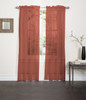 Lisa Sheer Voile Window Curtain Panel  old rust