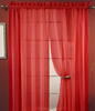 Lisa Sheer Voile Window Curtain Panel - Crimson
