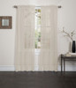 Lisa Sheer Voile Window Curtain Panel Mocha