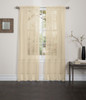 Lisa Sheer Voile Window Curtain Panel Gold