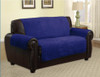 Quilted Microfiber Pet Dog Couch Furniture Protector  Navy Blue - Loveseat
