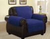 Quilted Microfiber Pet Dog Couch Furniture Protector  Navy Blue - Chair