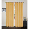 "Faux Silk Solid Color Grommet Blackout Panel, Maddie Single Window Curtain, 54""x84"""