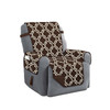 Austin Reversible Solid/Print Microfiber Furniture Protector With Strap & Side Pockets Recliner