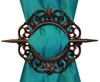 Antique Window Curtain Holdback - Mahogany