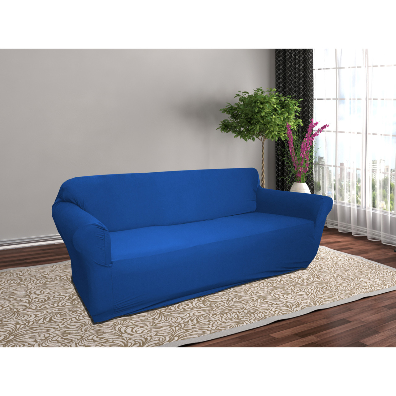 Furniture Couch Cover Linen Store Stretch Jersey Slipcover Soft