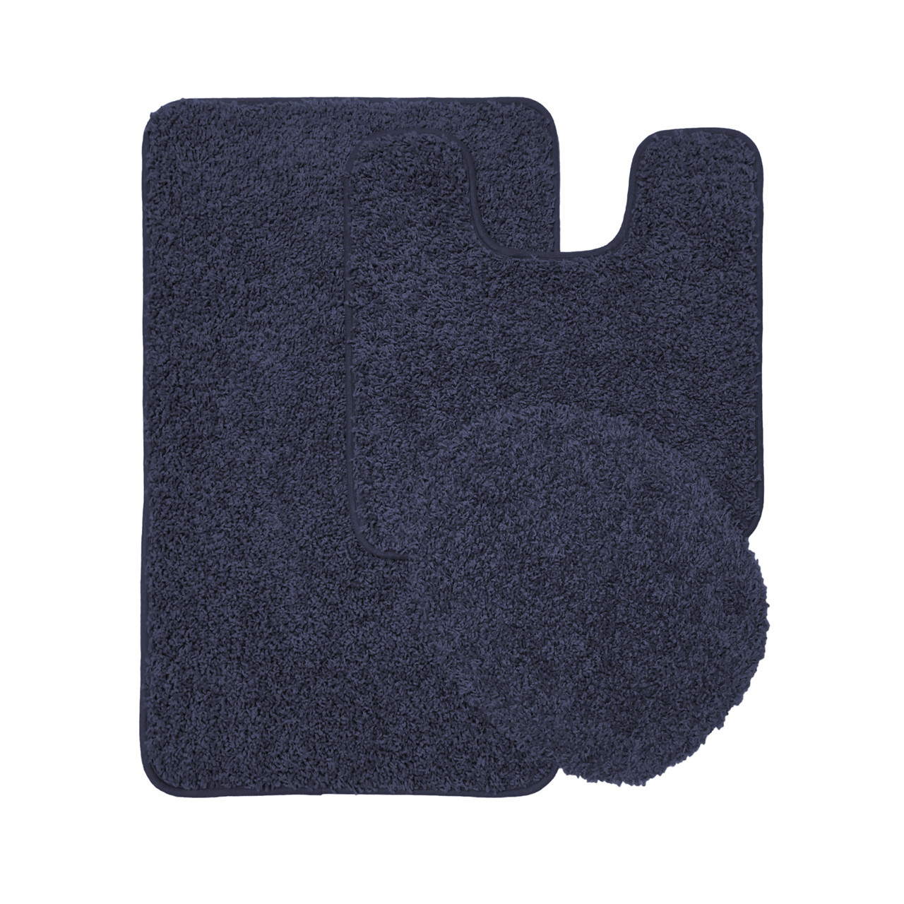 Bathroom rug set - Layla Oversized 3 Piece Shaggy Bathroom Rug Set Bath Mat Contour Rug Lid