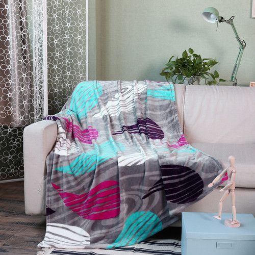 Picasso Collection Colorful Paisley Micro Plush Blanket, 50x60 (PL-BTPICA50X60-PAISLEY)