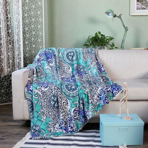Picasso Collection Melina Micro Plush Throw Blanket, 50x60