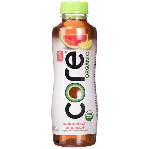 Core Organic Fruit Infused Beverage, Watermelon Lemonade, 18 Ounce (Pack of 12)
