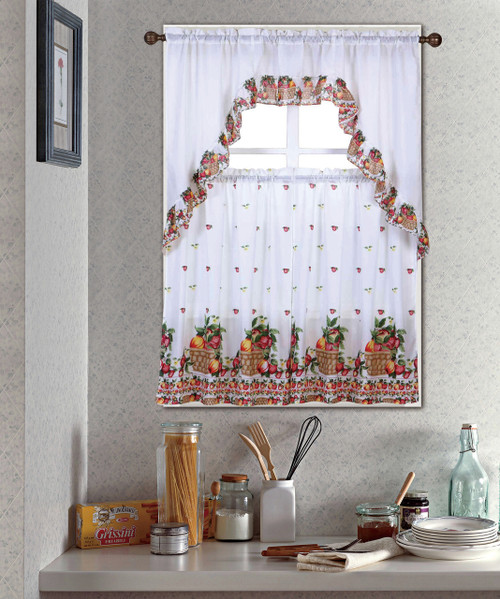 Fruit Basket Kitchen Curtain Set