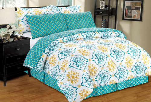 Montana Bed in a Bag, Damask - Lattice Pattern, Reversible