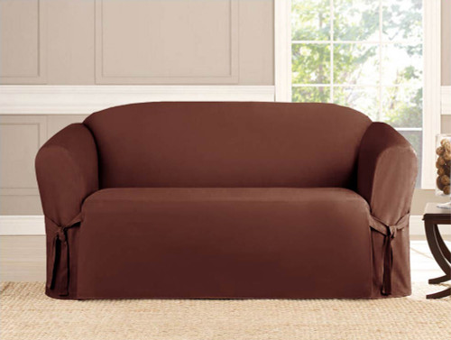 Micro-Suede Slipcover Brown