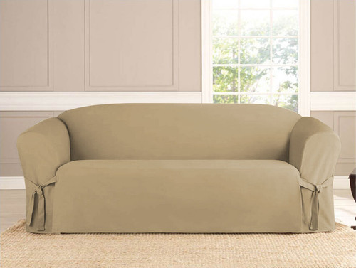 Micro-Suede Slipcover Taupe - 3 Sizes