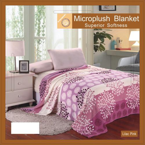 Lilac Pink Microfiber Blanket
