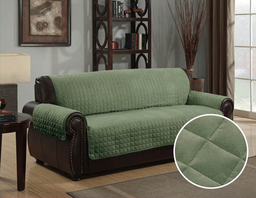 Micro-Suede Furniture Protector Sage Sofa