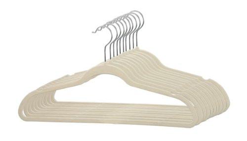 Sunbeam Velvet Slim Hangers 120 pack Ivory