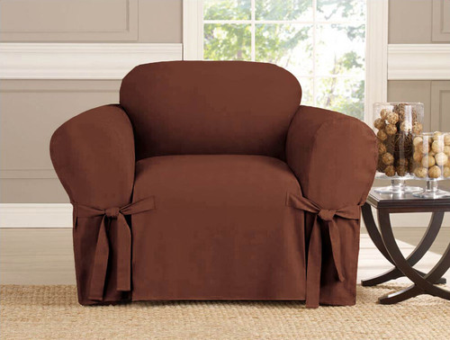 Kashi Home Micro-Suede Chair Slipcover - Brown