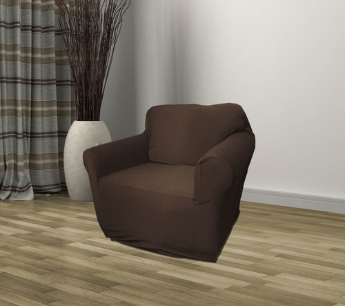 Kashi Home Stretch Jersey Chair Slipcover - Brown