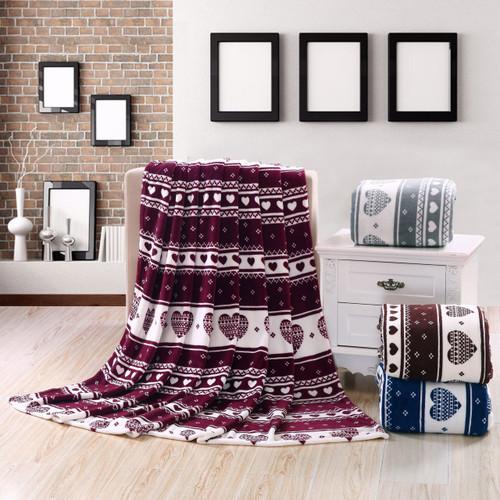 Heart Felt Micro Plush Blanket, Lovely Contemporary Pattern