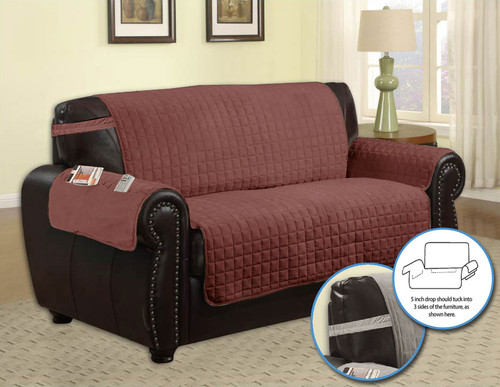 Furniture Protector Quilted Microfiber Pet Dog Couch With  : microfiberbeigeLoveseatsidepocketbrown196111455573645 from www.linenstore.com size 500 x 387 jpeg 45kB