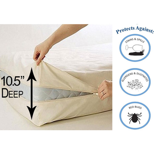 Deluxe Vinyl Zippered Mattress Protector Cover, Extra Heavy