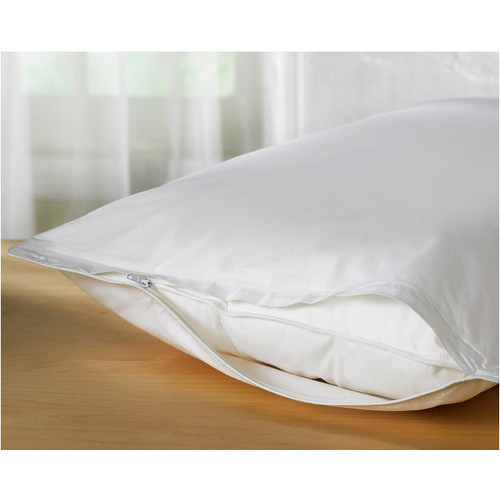 deluxe vinyl zippered pillow protector cover extra heavy bed bugs dustmites shield