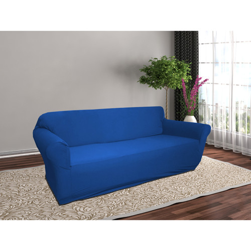 Linen Store Stretch Jersey Slipcover, Soft Form Fitting Furniture Couch Cover
