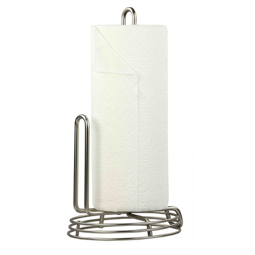 Home Basics PH44290 Gateway Collection Satin Nickel Paper Towel Holder
