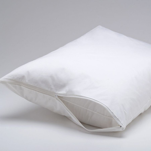 set of 2 deluxe zippered fabric pillow covers protectors protects against bed bugs u0026 dust mites 21x36