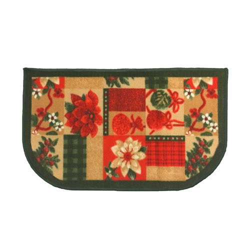 "Christmas Slice Kitchen Rug, Decor Mat, Christmas Gift - 18""x30"" D-Shape (K-KS054462)"