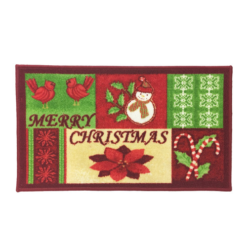 "Christmas Kitchen Rug, Decor Mat, Merry Christmas - 18""x30"", Rectangular (K-RS054943)"