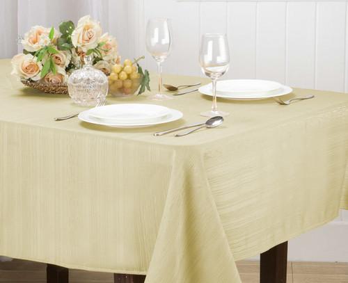 Willow Jacquard Fabric Tablecloth Rectangle Round, 4pk Cloth Napkin Set