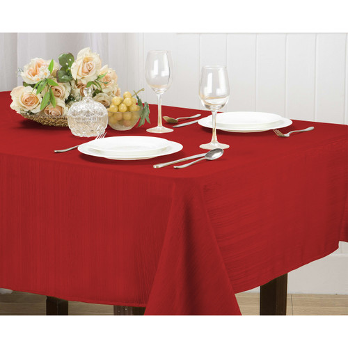 Willow Jacquard Fabric Tablecloth Rectangle Round, 4pk Cloth Napkin Set