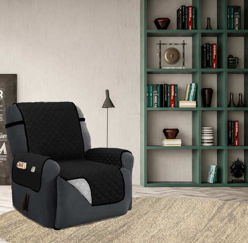 Quilted Reversible Microfiber Furniture Recliner Pet Protector Cover With Strap u0026 Side Pockets & Sofa Throws and Blanket - Linenstore islam-shia.org
