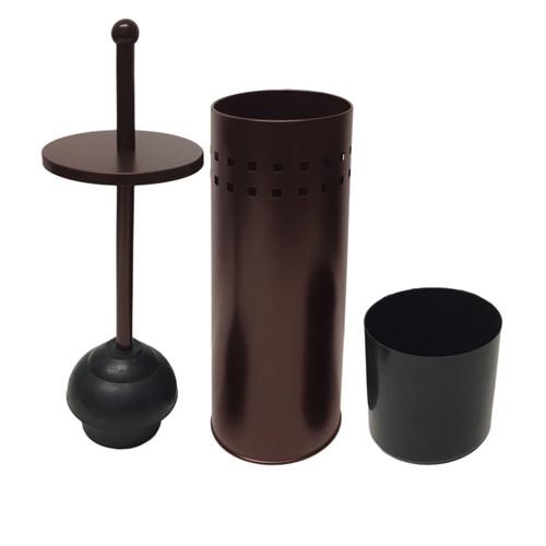 brown powder coated toilet plunger holder linen store. Black Bedroom Furniture Sets. Home Design Ideas