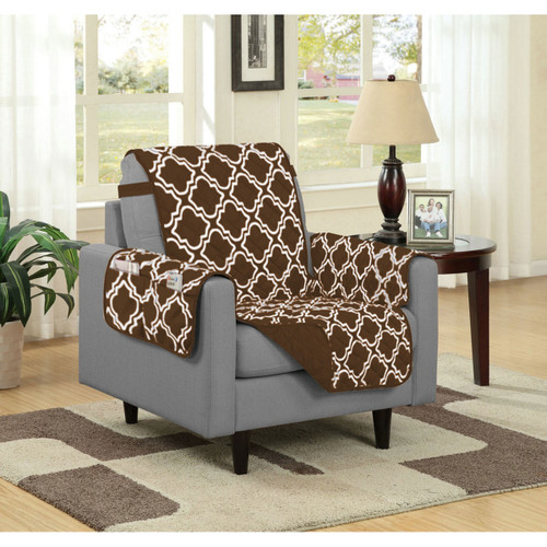 austin reversible solidprint microfiber furniture protector with strap u0026 side pockets chair