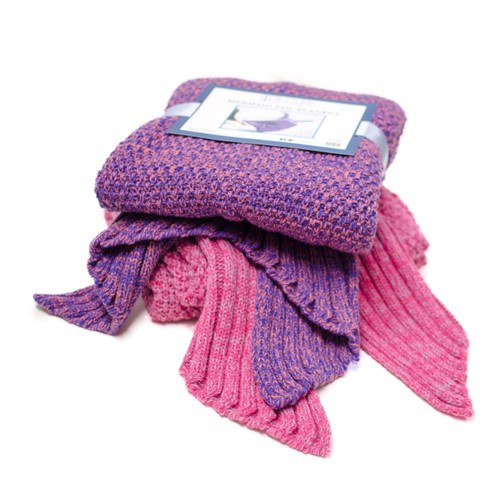Mermaid Tail Blanket, Pink, Blue, Purple