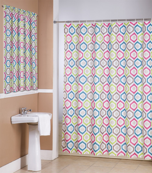 Bathroom Window Accessories 14 piece bathroom accessories set elena, canvas shower curtain