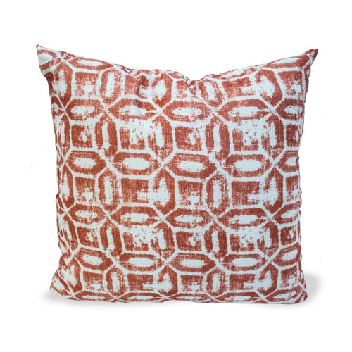"Emma Geometric Printed 18""x18"" Decorative Throw Pillow, 2 Pack"