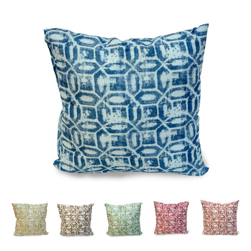 "Emma Geometric Printed 18""x18"" Decorative Throw Pillow, 2 Pack"