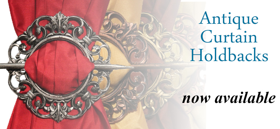 Antique Curtain Holdbacks Promotion Banner