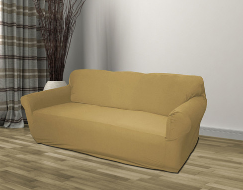 Tan Jersey Sofa Slipcover Linen Store
